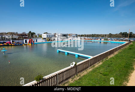 Lymington Sea Water Baths, Lymington, Hampshire, UK - Stock Photo