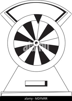 prize wheel of fortune icon over white background, vector illustration - Stock Photo