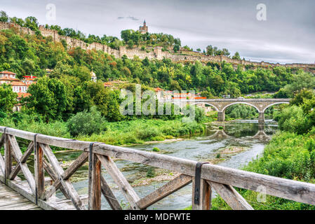Tsarevets fortress,Veliko Tarnovo,Bulgaria - Stock Photo