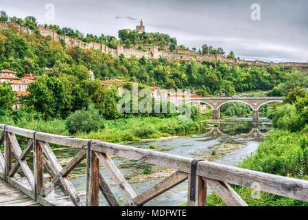 Tsarevets fortress,Veliko Tarnovo,Bulgaria - Stock Photo