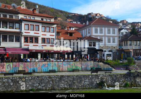 The beautiful town of Prizren in Kosovo (Ex-Yugoslavia): The orthodox Seminar (Bogoslovija) - Stock Photo