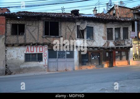 The beautiful town of Prizren in Kosovo (Ex-Yugoslavia): an old Osman-style house - Stock Photo