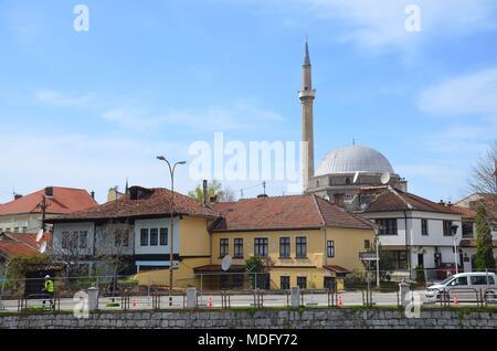 The beautiful town of Prizren in Kosovo (Ex-Yugoslavia) - Stock Photo