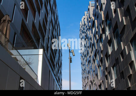 Contemporary buildings and arhitecture in Bar Code district in Oslo, Norway. - Stock Photo