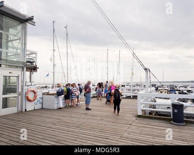 The longest wooden pier in Europe,with sandy beaches on each side in the summer holiday resort town of Sopot Poland near Gdansk on the Baltic coast - Stock Photo