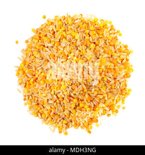 Mix of Thai rice, red and yellow lentils and oats. - Stock Photo