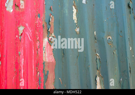 Coca-Cola hand painted advert on corrugated iron fence , Ngong Road, Nairobi, Kenya - Stock Photo
