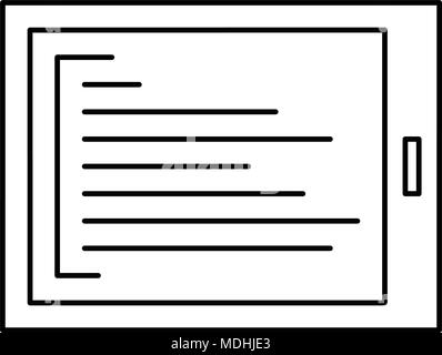 Tablet outline icon. vector icon. outline style - Stock Photo