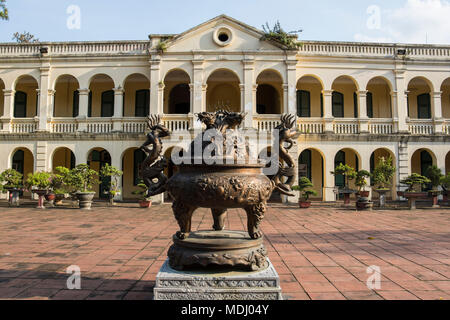 Urn in the Central Sector of the Imperial Citadel of Thang Long; Hanoi, Hanoi, Vietnam - Stock Photo