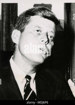 US President John F. Kennedy , USA 1961