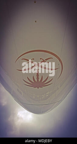 Nose of a Saudia Boeing 747-400 Freighter - Stock Photo
