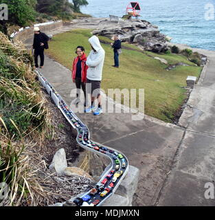 Sydney, Australia - Oct 27, 2017. Jane Gillings: Are We There Yet?. Sculpture by the Sea along the Bondi to Coogee coastal walk is the world's largest - Stock Photo