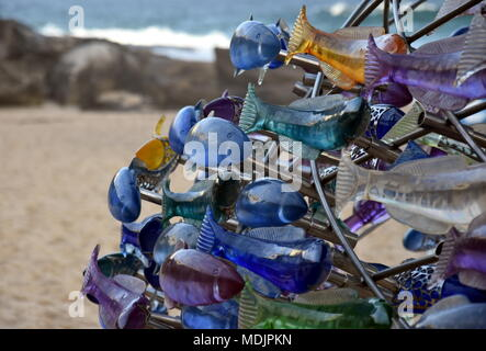 Sydney, Australia - Oct 27, 2017. B. Jane Cowie: Swirling Surround. Sculpture by the Sea along the Bondi to Coogee coastal walk is the world's largest - Stock Photo