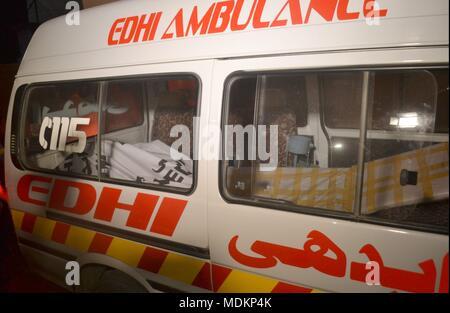 Hyderabad, Pakistan  20th Apr, 2018  An accident happen between 2