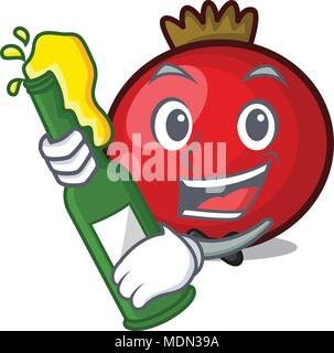With beer red currant mascot cartoon - Stock Photo