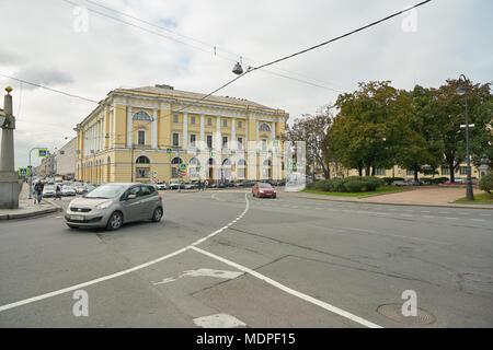 SAINT PETERSBURG - CIRCA SEPTEMBER, 2017: Saint Petersburg urban landscape at daytime. - Stock Photo