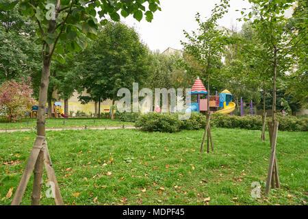 SAINT PETERSBURG - CIRCA SEPTEMBER, 2017: park in Saint Petersburg at daytime. - Stock Photo