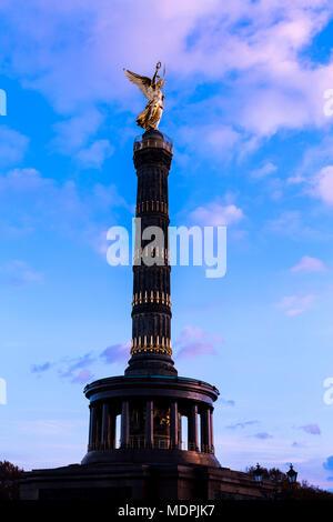 Victory Column, Berlin, Germany - Stock Photo