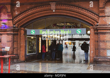 Hackescher Markt, bahn station, Berlin, Germany - Stock Photo