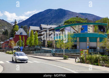 Ax les Thermes, spa town, Ariege, Rench Pyrenees, France - Stock Photo
