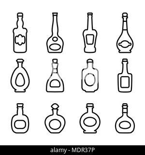 icons bottles - Stock Photo