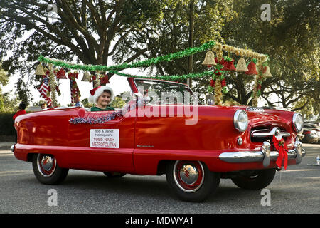 Beaufort Christmas Parade 2019 A classic car participates in the annual Beaufort Christmas parade