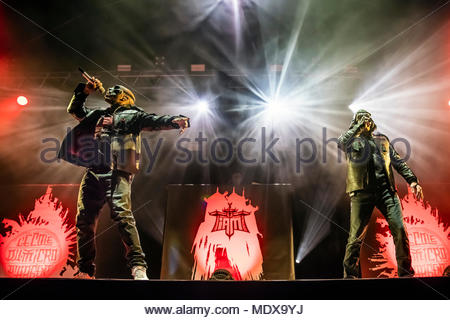 IAM performing live at the first edition of MUSILAC Mont-Blanc music festival in Chamonix (France) - 20 April 2018 - Stock Photo
