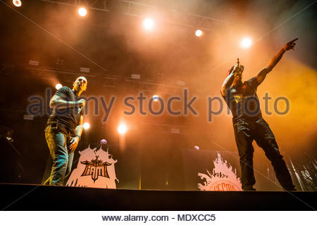 Chamonix, France. 20th April 2018. IAM performing live at the first edition of MUSILAC Mont-Blanc music festival in Chamonix (France) - 20 April 2018 Credit: Olivier Parent/Alamy Live News - Stock Photo