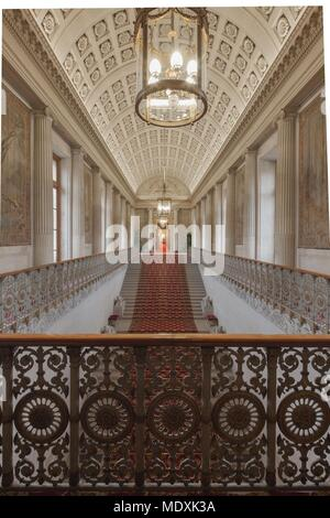 Paris, Palais du Luxembourg, Senat, Grand escalier d'honneur, Napoleon I, female lions and decorations in the style of the  First French Empire, - Stock Photo