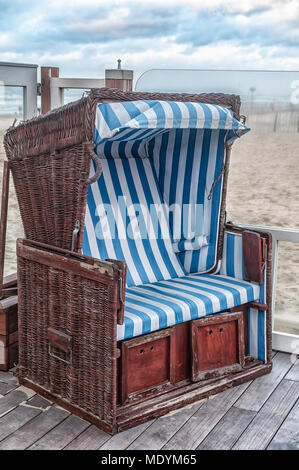Superbe ... Old Fashioned Dutch Beach Chair On A Terrace With Storage Drawers At  The Bottom