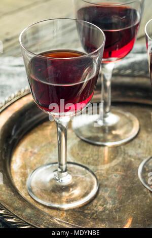 Sweet Port Dessert Wine ready to Drink - Stock Photo
