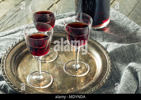 Sweet Port Dessert Wine ready to Drink - Stock Photo