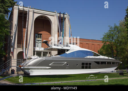 La Treinnale di Milano, Milan, Italy, Design week 2018, Azimut Yachts installation - Stock Photo
