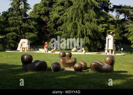 La Treinnale di Milano, Milan, Italy, outdoor garden sculptures - Stock Photo