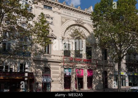 Paris, 18 boulevard Saint Martin, theatre de la porte Saint Martin, Alexandre Dumas, - Stock Photo