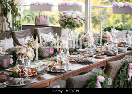 Garland Of Flowers And Greenery For Table Decoration Luxury Wedding
