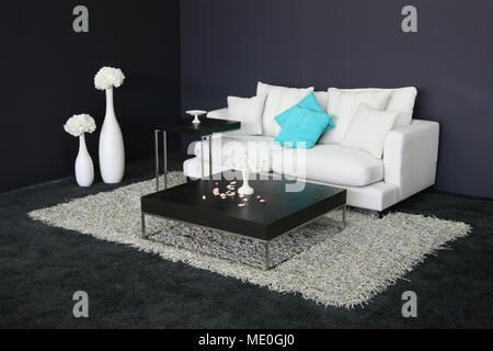 modern living room. interior - Stock Photo