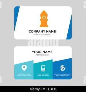 fire hydrant company logo design template business corporate vector