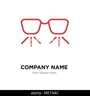 Ar glasses company logo design template, Business corporate vector icon - Stock Photo