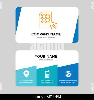 Mouse Creative Logo And Business Card Vertical Design Vector Stock