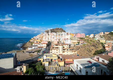 Overlook over Castelsardo, Sardinia, Italy - Stock Photo