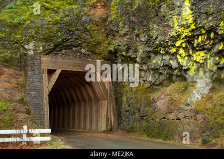 Oneonta Tunnel, Historic Columbia River Highway, Columbia River Gorge National Scenic Area, Oregon - Stock Photo