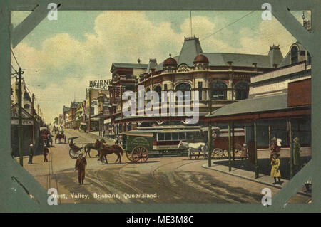 Brunswick Street, Fortitude Valley, Brisbane, ca 1905. - Stock Photo