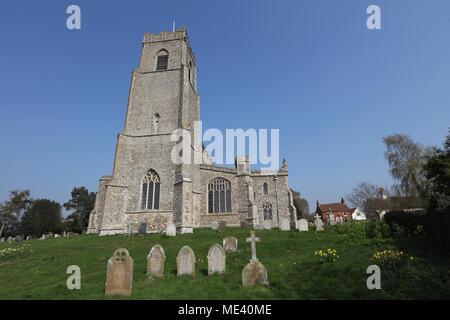 Holy Trinity Church, Blythburgh, Suffolk, UK. - Stock Photo
