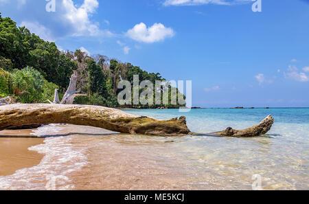 Scenic Jolly Buoy island sea beach at Andaman India. - Stock Photo