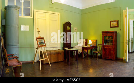 St Petersburg, Russia - March 25, 2018. Interior view of Anna Akhmatova living room at the Fountain House in St Petersburg. - Stock Photo