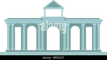 Greek temple building - Stock Photo