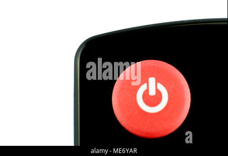 power round red glossy icon on white background. For your commercial and editorial use. - Stock Photo