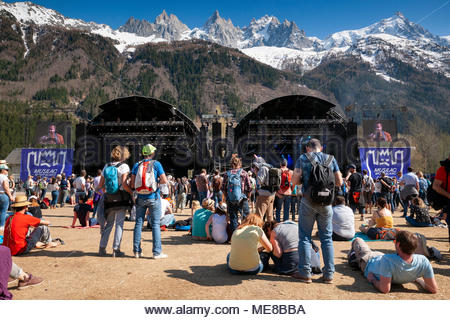 Chamonix, France, 21 April 2018. MUSILAC Mont-Blanc festival in Chamonix (France) - 21 april 2018 Credit: Olivier Parent/Alamy Live News - Stock Photo