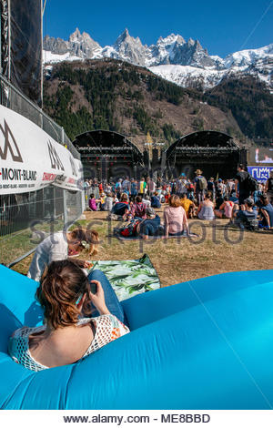 Chamonix, France, 21 April 2018. MUSILAC Mont-Blanc festival in Chamonix (France) - 2018 Credit: Olivier Parent/Alamy Live News - Stock Photo